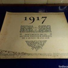 Militaria: DOCUMENTO DE LA SECCIÓN FOTOGRÁFICA DE LA ARMADA FRANCESA (AÑO 1917)PRIMERA GUERRA MUNDIAL N°6. Lote 198977116