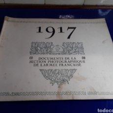 Militaria: DOCUMENTO DE LA SECCIÓN FOTOGRÁFICA DE LA ARMADA FRANCESA (AÑO 1917)PRIMERA GUERRA MUNDIAL N°8. Lote 198977462