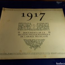 Militaria: DOCUMENTO DE LA SECCIÓN FOTOGRÁFICA DE LA ARMADA FRANCESA (AÑO 1917)PRIMERA GUERRA MUNDIAL N°9. Lote 198977691