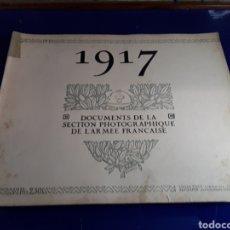 Militaria: DOCUMENTO DE LA SECCIÓN FOTOGRÁFICA DE LA ARMADA FRANCESA (AÑO 1917)PRIMERA GUERRA MUNDIAL N°10. Lote 198977900