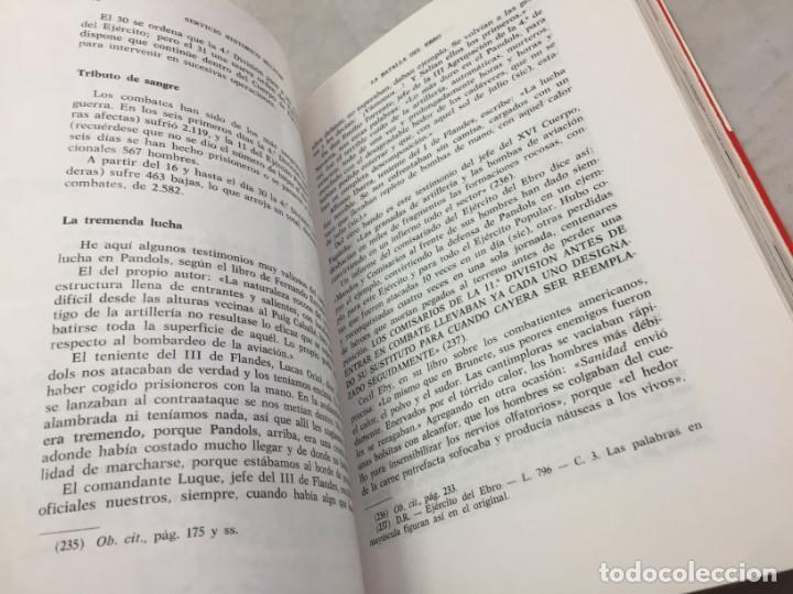 Militaria: La Batalla del Ebro. Servicio Histórico Militar. Monografías de la Guerra de España 13 - 1988 - Foto 8 - 199308317