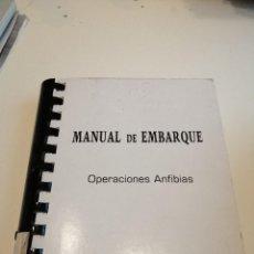 Militaria: G-EST18 LIBRO MANUAL DE EMBARQUE OPERACIONES ANFIBIAS . Lote 199318877