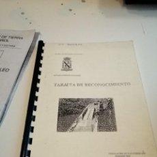 Militaria: G-EST18 LIBRO TARJETA DE RECONOCIMIENTO . Lote 199319160