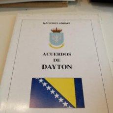 Militaria: G-EST18 LIBRO ACUERDOS DE DAYTON NACIONES UNIDAS . Lote 199319871