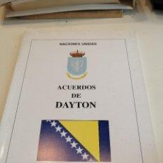 Militaria: G-EST18 LIBRO ACUERDOS DE DAYTON NACIONES UNIDAS . Lote 199319901