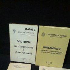 Militaria: LOTE DE LIBROS MILITARES - REGLAMENTO - MINISTERIO DE DEFENSA. Lote 200036926