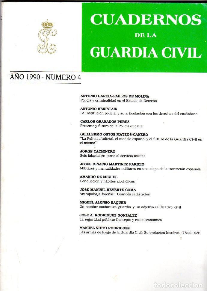 CUADERNOS DE LA GUARDIA CIVIL AÑO 1990 NÚMERO 4 (Militar - Libros y Literatura Militar)
