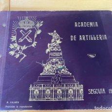 Militaria: ALBUM DE LA ACADEMIA DE ARTILLERÍA. PROMOCIÓN DE 1927. 18 LÁMINAS.. Lote 200525250