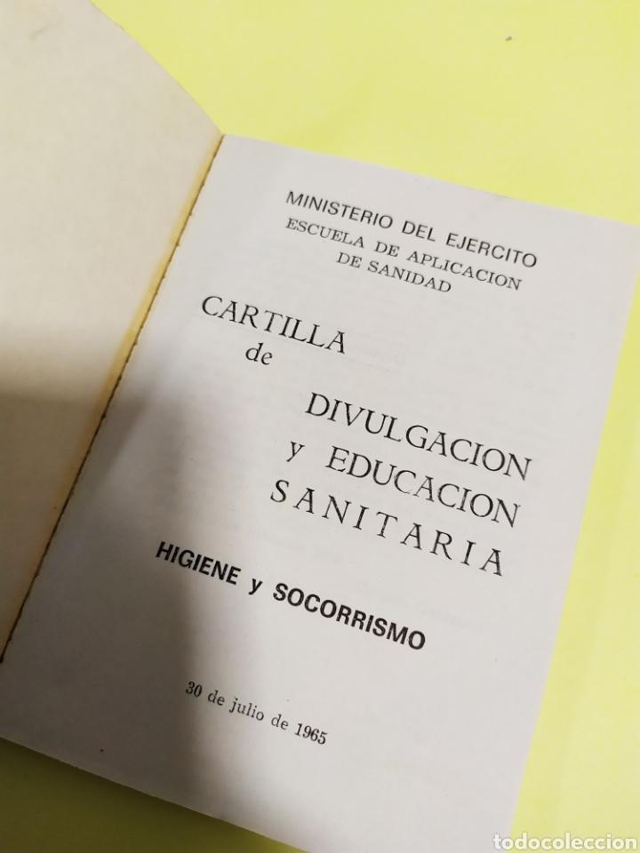 Militaria: CARTILLA DE DIVULGACIÓN Y EDUCACIÓN SANITARIA. 1974. SERVICIO GEOGRÁFICO DEL EJERCITO - Foto 3 - 201313318