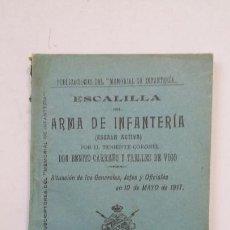 Militaria: ESCALILLA ARMA INFANTERIA. SITUACION DE LOS GENERALES 10 DE MAYO 1917. TOLEDO. TDK284. Lote 202353875