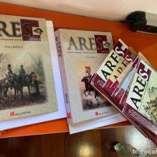 Militaria: TAPAS AÑOS 1 Y 2 Y 11 REVISTAS DE ARES. ILUSTRADAS POR FERRER-DALMAU. Lote 202632287