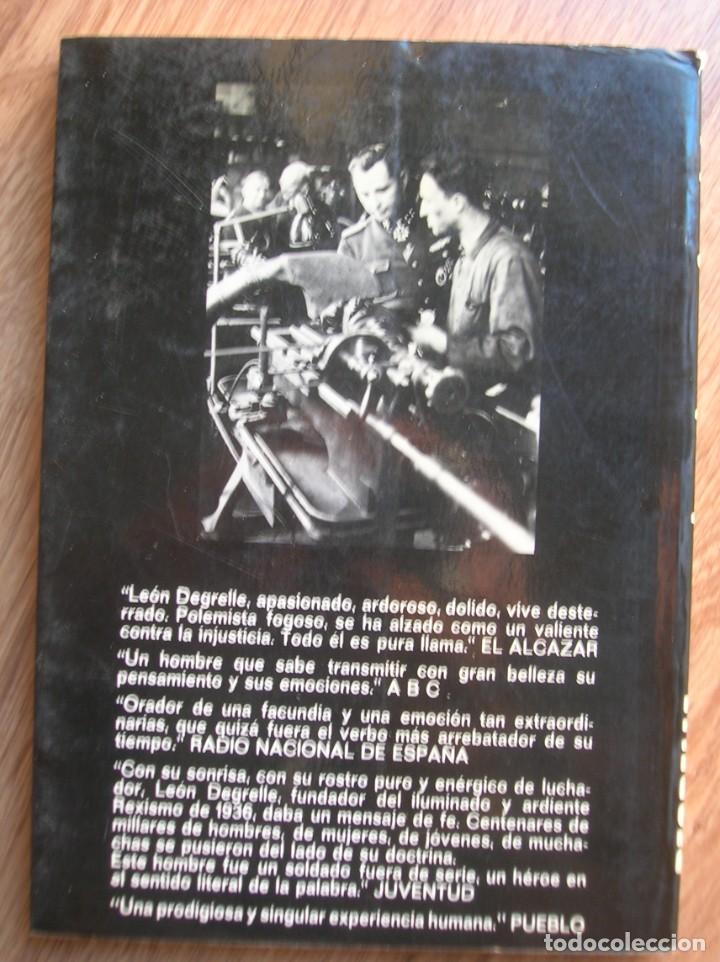 Militaria: MEMORIAS DE UN FASCISTA. CON FIRMA Y DEDICATORIA PERSONAL DE LEON DEGRELLE A DESTACADO POLITICO. - Foto 10 - 204498731