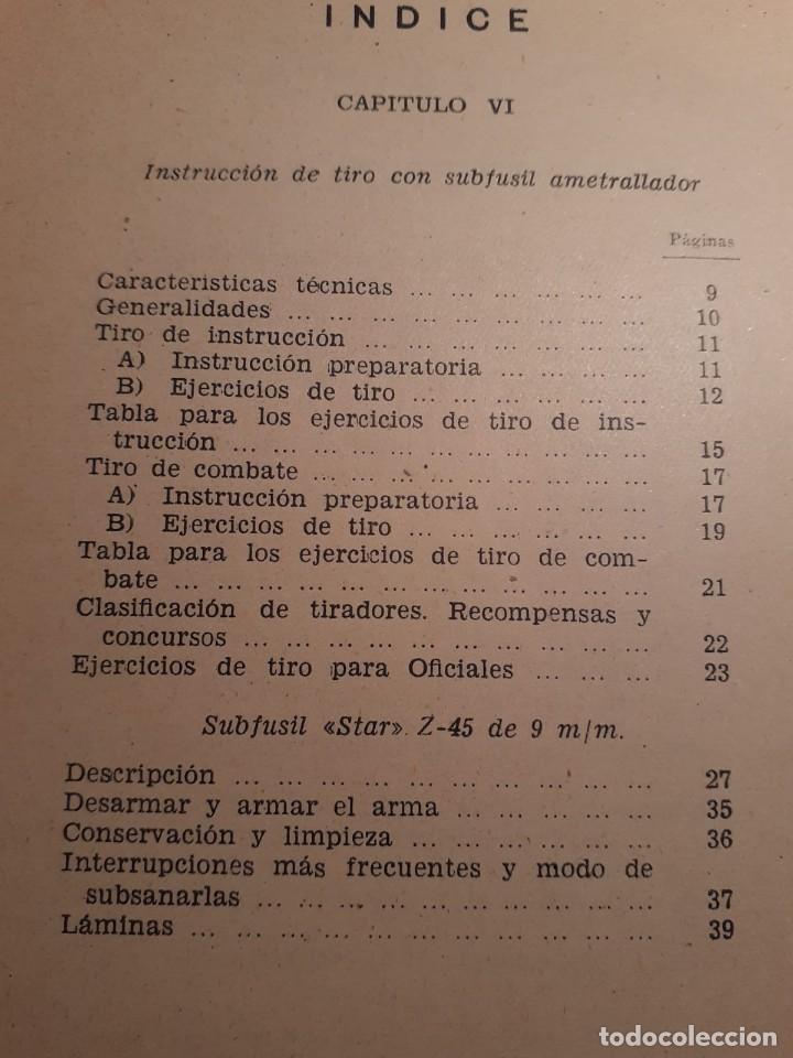 Militaria: NORMAS PROVISIONALES PARA LA INSTRUCCIÓN DE TIRO CON SUBFUSIL AMETRALLADOR - Foto 4 - 68017425