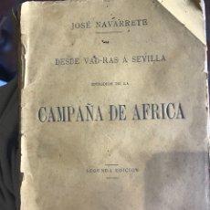 Militaria: CAMPAÑA DE ÁFRICA POR JOSÉ NAVARRETE 1880. Lote 204994716