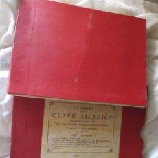 Militaria: CLAVE SILABICA COMUNICARSE EN LENGUAJE CIFRADO CARMONA 1892. Lote 207068278