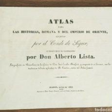 Militaria: ATLAS HISTORICO 1832 - ATLAS PARA LAS HISTORIAS ROMANA Y DEL IMPERIO DE ORIENTE. Lote 208830568