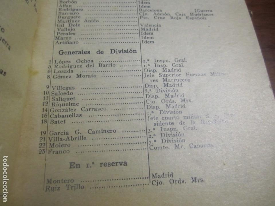 Militaria: ESCALILLA DEL ARMA DE INFANTERIA 29 /2/ 1936 TOLEDO --F.FRANCO DE JEFE MAYOR DEL EJERCITO A CANARIA - Foto 3 - 209170400