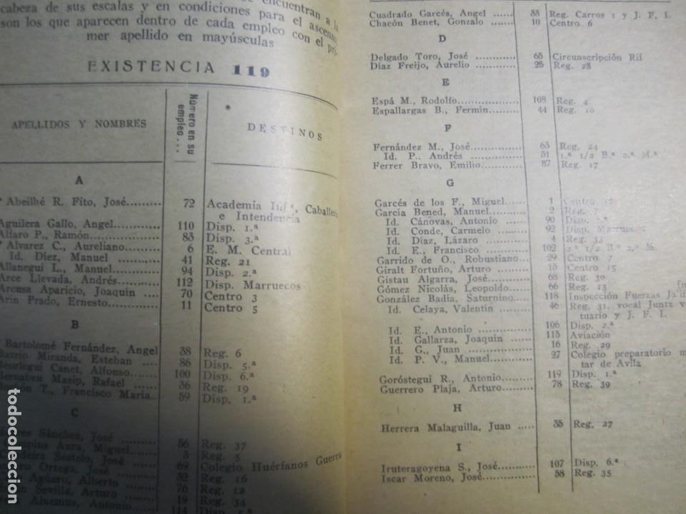 Militaria: ESCALILLA DEL ARMA DE INFANTERIA 29 /2/ 1936 TOLEDO --F.FRANCO DE JEFE MAYOR DEL EJERCITO A CANARIA - Foto 4 - 209170400