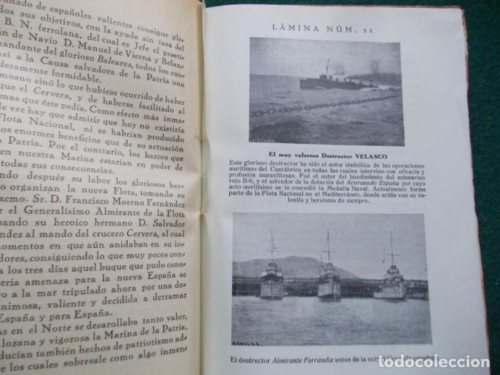 Militaria: PÁGINAS DE GLORIA DE LA MARINA ESPAÑOLA FRANCISCO VALLE COLLANTE 1938 - Foto 3 - 209686110