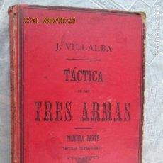 Militaria: TACTICA DE LAS TRES ARMAS POR J. VILLALBA 6ª EDIC. 1900 TOLEDO 1ª PARTE -TACTICAS PARTICULARES. Lote 210600226