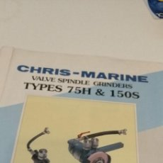 Militaria: G-12 LOTE DE LIBROS CHRIS MARINE VALVE SEAT GRINDING MACHINE TYPE MSD Y 75 H 150S VER FOTOS. Lote 211506880