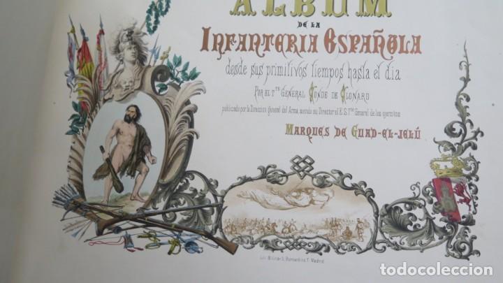 Militaria: 1861.- ALBUM DE LA INFANTERÍA ESPAÑOLA. DESDE SUS PRIMITIVOS TIEMPOS HASTA EL DÍA. CONDE DE CLONARD - Foto 5 - 213910377