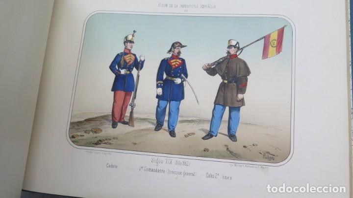 Militaria: 1861.- ALBUM DE LA INFANTERÍA ESPAÑOLA. DESDE SUS PRIMITIVOS TIEMPOS HASTA EL DÍA. CONDE DE CLONARD - Foto 7 - 213910377