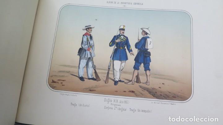 Militaria: 1861.- ALBUM DE LA INFANTERÍA ESPAÑOLA. DESDE SUS PRIMITIVOS TIEMPOS HASTA EL DÍA. CONDE DE CLONARD - Foto 8 - 213910377