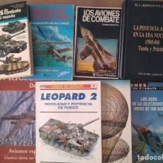 Militaria: LOTE DE LIBROS SOBRE LA SEGUNDA GUERRA MUNDIAL, TANQUES, AVIACION, MILITARES.... Lote 213986435