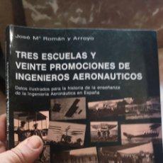 Militaria: TRES ESCUELAS Y 20 PROMOCIONES DE INGENIEROS AERONÁUTICOS. Lote 214445867