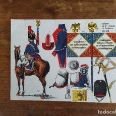Militaria: 1º REGIMIENTO DE CARABINEROS 1804 - 1812 LAMINAS LE PLUMET RIGO FRANCIA EPOCA NAPOLEONICA. Lote 214496322