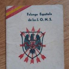 Militaria: FALANGE CEUTA, LIBRILLO DE 24 PAGINAS. 13 X 9,5. Lote 214824547