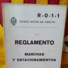 Militaria: REGLAMENTO MARCHAS Y ESTACIONAMIENTOS. Lote 216494506