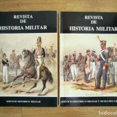 Militaria: REVISTA DE HISTORIA MILITAR. SERVICIO HISTÓRICO MILITAR. LOTE 2 NÚMEROS: 67 Y 76. Lote 216584552