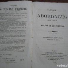 Militaria: TACTIQUE DES ABORDAGES EN MER P.PROMPT 1868 PARIS. Lote 216738506