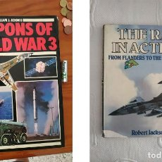 Militaria: WEAPONS OF WORLD WAR 3 Y THE RAF IN ACTION AVIONES. Lote 218596421