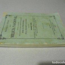 Militaria: 1855 MANUAL DE TACTICA PARA LA MILICIA NACIONAL BRIGADIER LUIS CORSINI. Lote 218667521