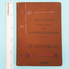 Militaria: 3ª PROMOCION 2ª ETAPA ACADEMA INFANTERIA TOLEDO, SU HISTORIAL 1896-1916 179 PAGINAS TAPA DURA. Lote 218956288