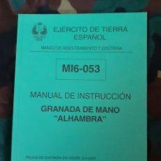 Militaria: MANUAL DE INSTRUCCIÓN GRANADA DE MANO ALHAMBRA. Lote 219413797