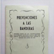 Militaria: PREVENCIONES A LAS BANDERAS EL CORONEL FRANCO. Lote 219526020