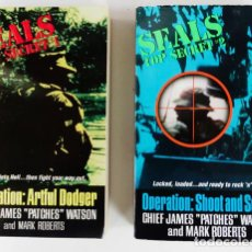 Militaria: LOTE DE 2 LIBROS-NOVELAS, MISIONES SEAL EN VIETNAM. Lote 222519827