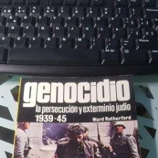 Militaria: LIBRO GENOCIDIO LA PERSECUCION Y EXTERMINIO JUDIO 1939-45 ED SAN MARTIN CONFLICTO HUMANO Nº 1. Lote 222716595