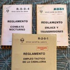 Militaria: LOTE 3 EJEMPLARES - ESTADO MAYOR DEL EJERICTO / REGLAMENTO. Lote 222742487