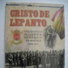Militaria: CRISTO DE LEPANTO UNA BANDERA DE LA LEGÍON EN EL FRENTE DE MADRID ABRIL 1937 GUERRA CIVIL ESPAÑOLA. Lote 242907755