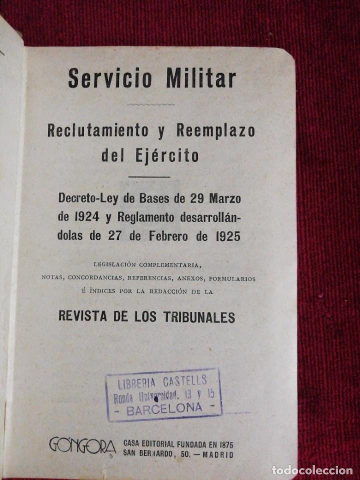 Militaria: Servicio Militar /Revista de los Tribunales Encuadernación Provisional /Editorial Gongora 1925 - Foto 2 - 224757840