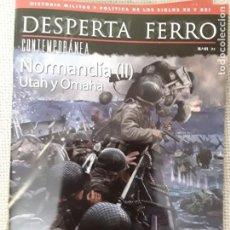 Militaria: DESPERTA FERRO CONTEMPORÁNEA N.41 . NORMANDÍA (II) UTAH Y OMAHA. Lote 224801568