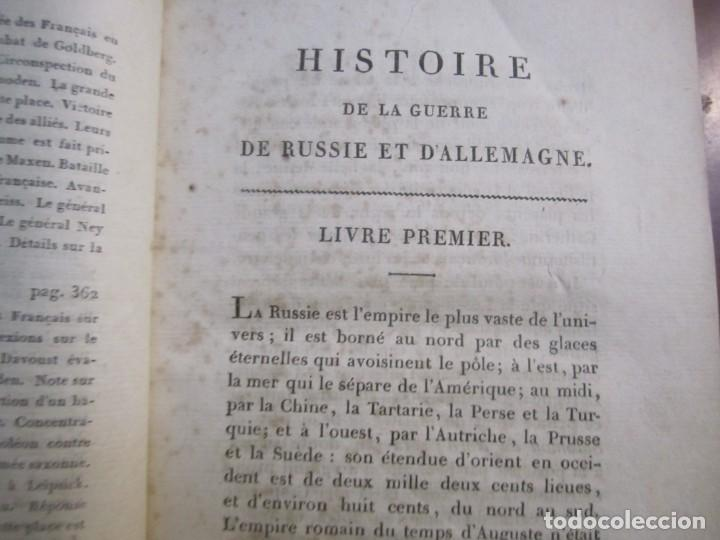 Militaria: HISTOIRE DE LA GUERRE DE RUSSIE ET DALLEMAGNE M.SARRAZIN 1815 PARIS - Foto 5 - 226694895