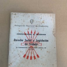 Militaria: DELEGACION NACIONAL DE SINDICATOS / FALANGE. Lote 228108085
