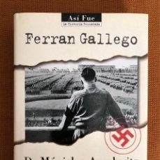 Militaria: LIBRO NUEVO. DE MUNICH A AUSCHWITZ. NAZISMO. II GUERRA MUNDIAL. III REICH. HITLER. ALEMANIA. Lote 229905875