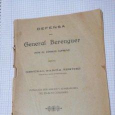 Militaria: DEFENAS DEL MILITAR GENERAL BEREMGUER. Lote 230104695